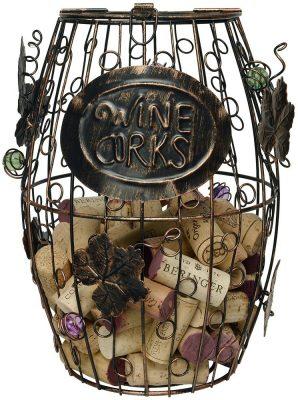 Home-X Wine Barrel Cork Holder