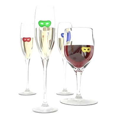 HouseVines Silicone Wine Tasting Charms for Glasses 50 Shades Style