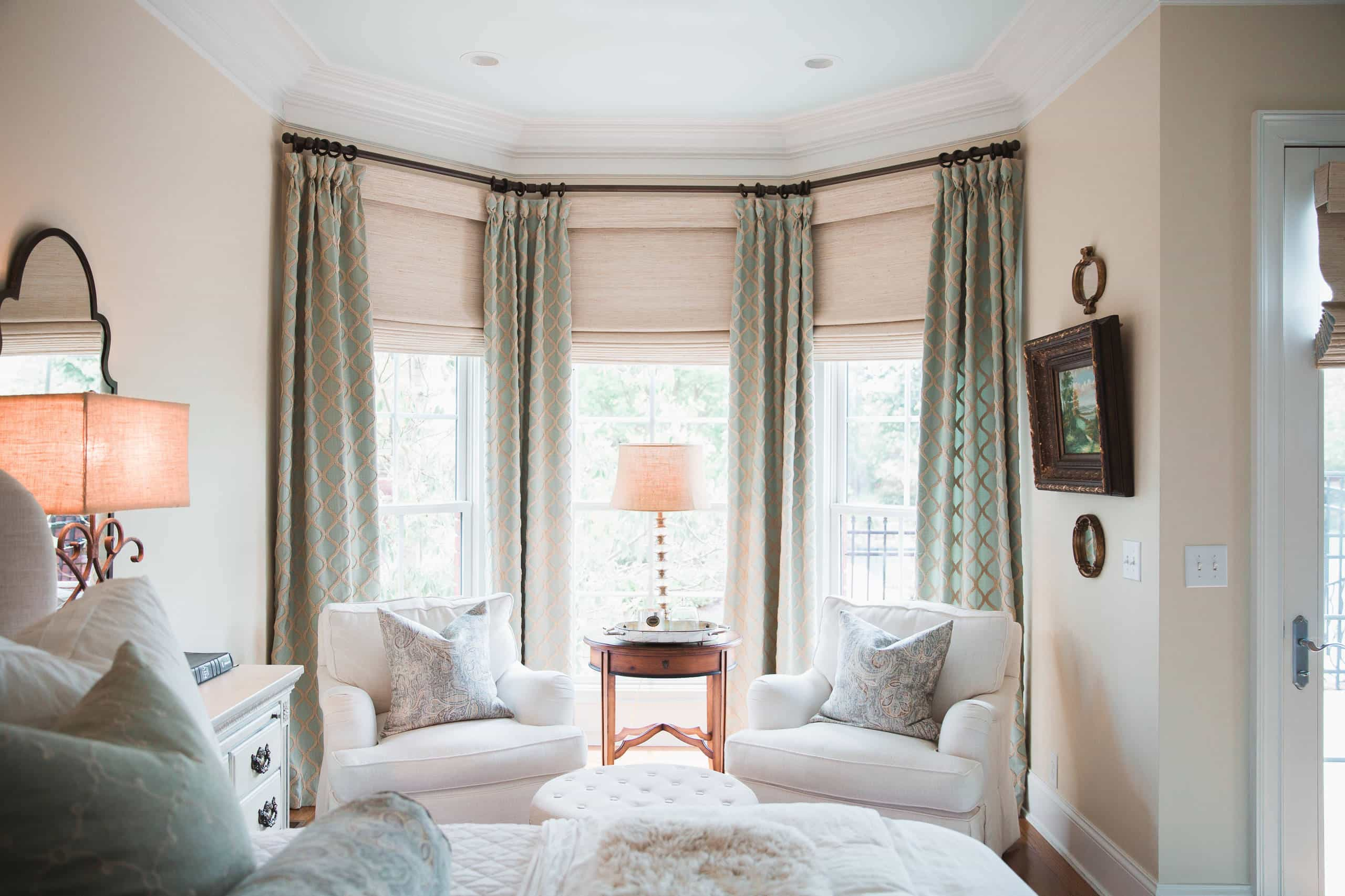 How Do You Hang Curtains In A Bay Windows