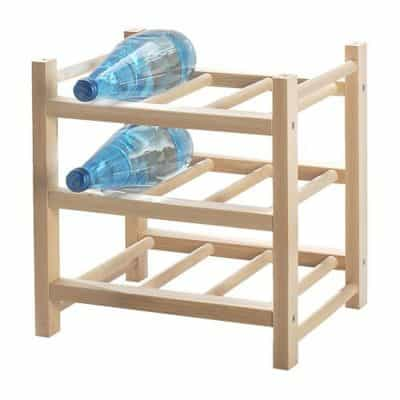 Hutten Kitchen Bar 9-Bottle Solid Wood Wine Rack