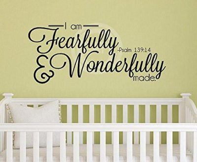 I Am Fearfully And Wonderfully Made Psalm 13914 wall saying vinyl lettering art decal quote sticker home decor
