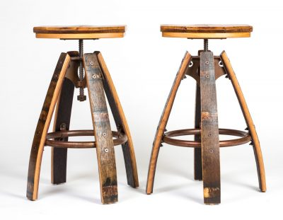 Industrial Barrel Bar Stool