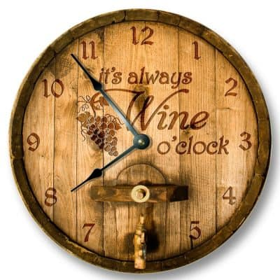 Its always WINE o'clock wall clock