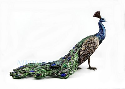 Jay Strongwater Titania Grand Peacock Figurine SDH1778408