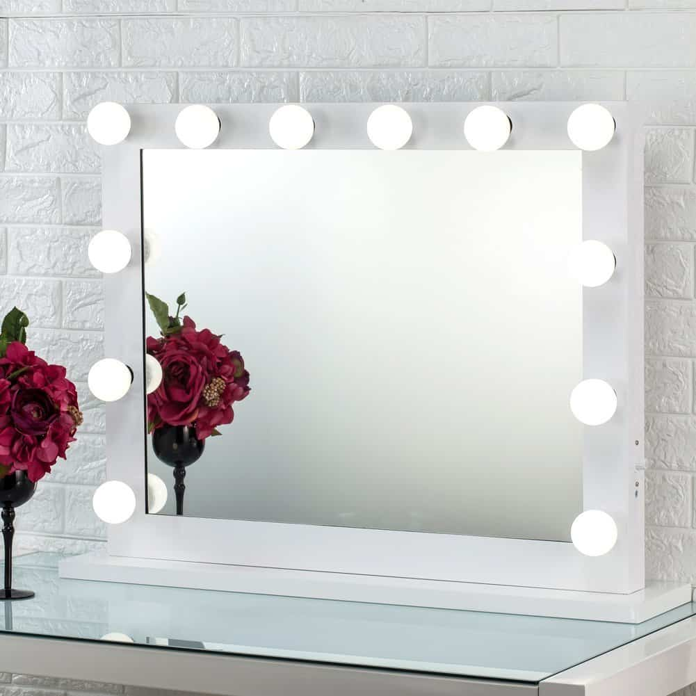 Joyful Store Hollywood Makeup Mirror,Wall Mounted Dressing Illuminated Cosmetic Mirror,Tabletop Vanity Mirror for Studio and Backstage