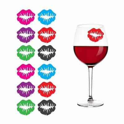 Kiss Lips Lipstick Print Silicone Drink Markers