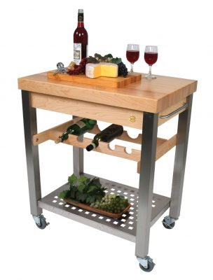 Kitchen Cart-Island w Wine Rack - Cucina D'Vino