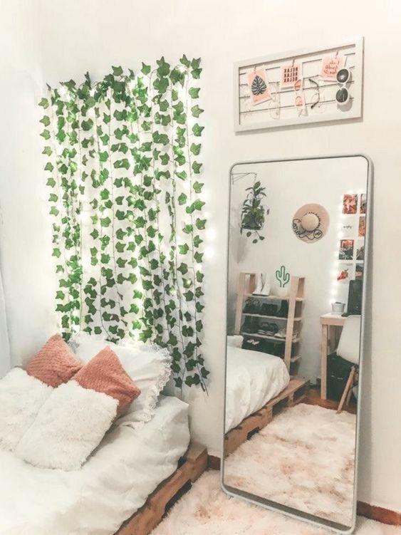 21 Aesthetic Bedroom Ideas - Best Aesthetic Bedroom Decor ... on Vine Decor Ideas  id=71870