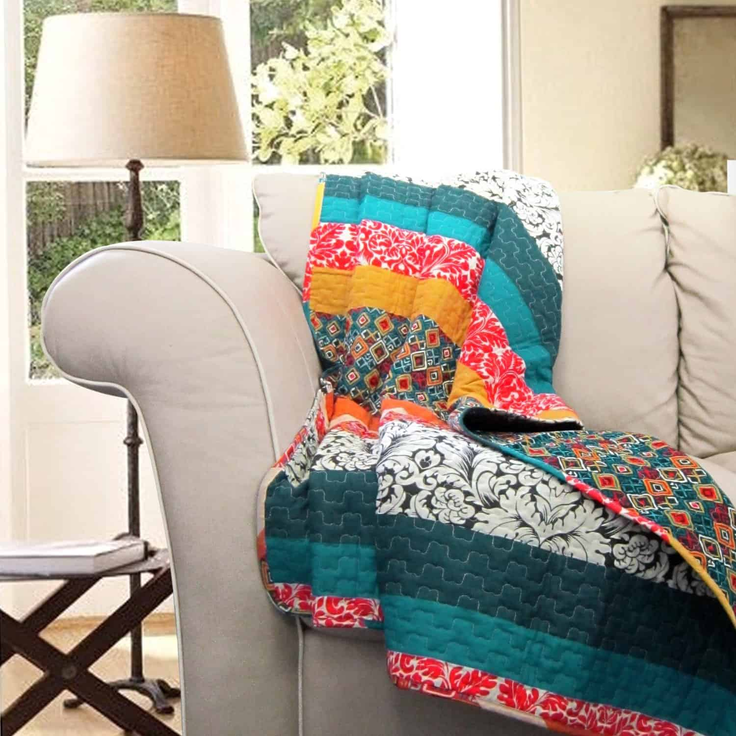 Lush Decor Boho Stripe Throw Blanket