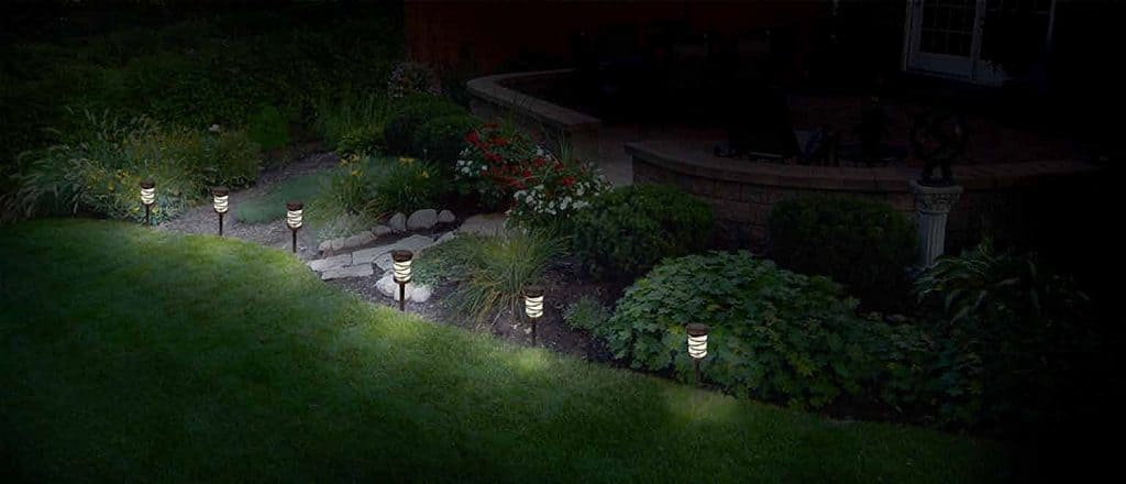 Malibu 6 Pack Pathway Lights Solar LED Landscape Lighting - landscape lighting ideas