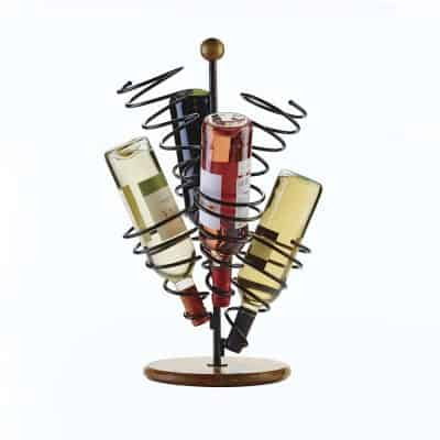 Metal Spiral Wine Bottle Holder