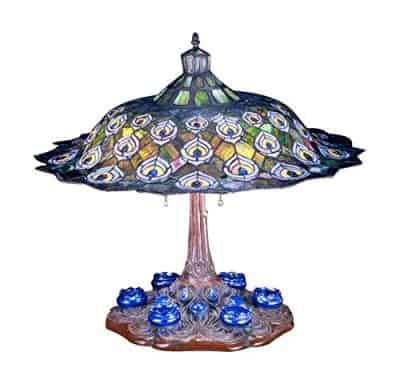 Meyda Tiffany 49869 Peacock Feather Table Lamp