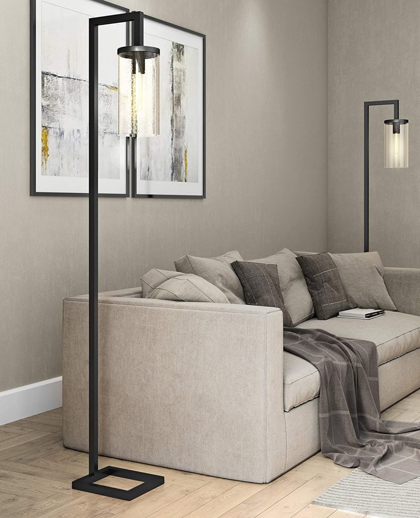 Modern farmhouse seeded floor lamp