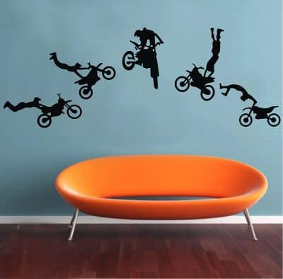 Motocross Trick Wall Stickers