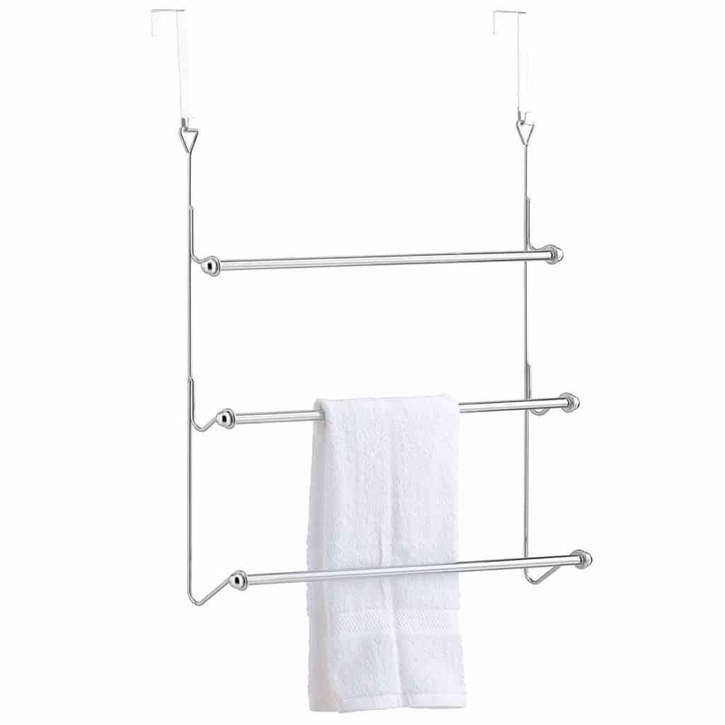 MyGift Over-The-Door 3 Tier Bathroom Towel Bar Rack