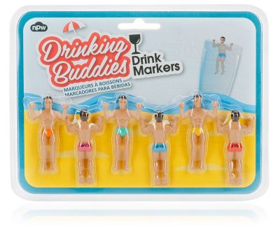 NPW Drinking Buddies CocktailWine Glass Markers