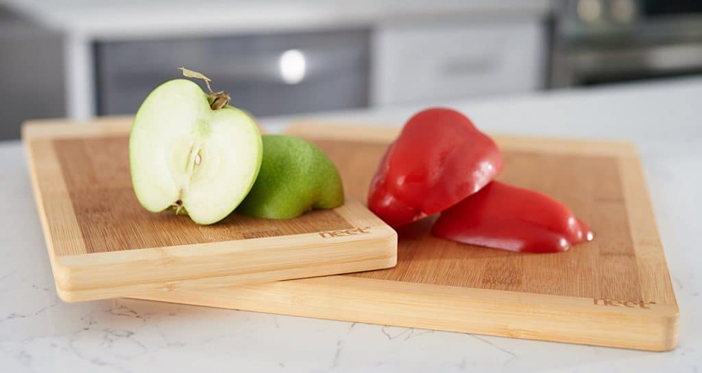 Neet Organic Bamboo Cutting Board Set - FDA Wooden Approved For Kitchen Countertops