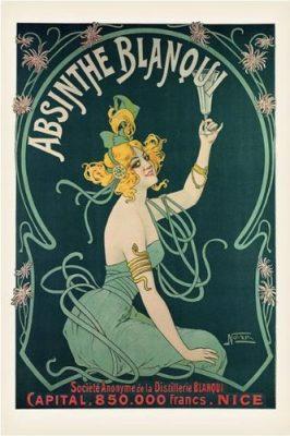 Nover-Absinthe Blanqui, Art Poster Print