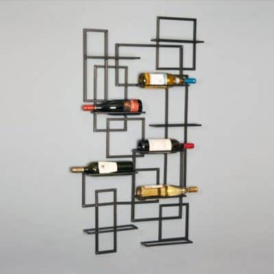 Oenophilia Mid Century Wall Mount Wine Rack