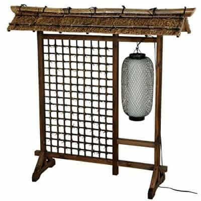 Oriental Furniture 4 ft. Tall Bamboo Lantern Room Divider