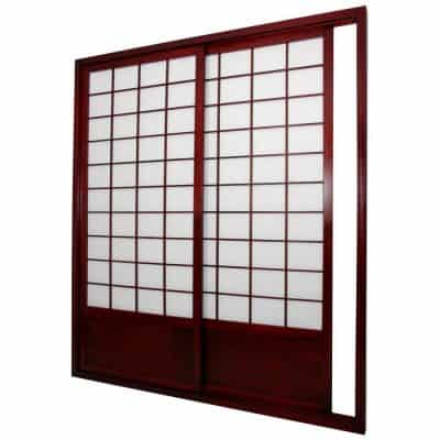 Oriental Furniture 7 ft. Zen Shoji Sliding Door Kit