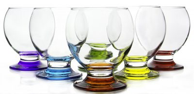 Orion Colored Footed Goblets