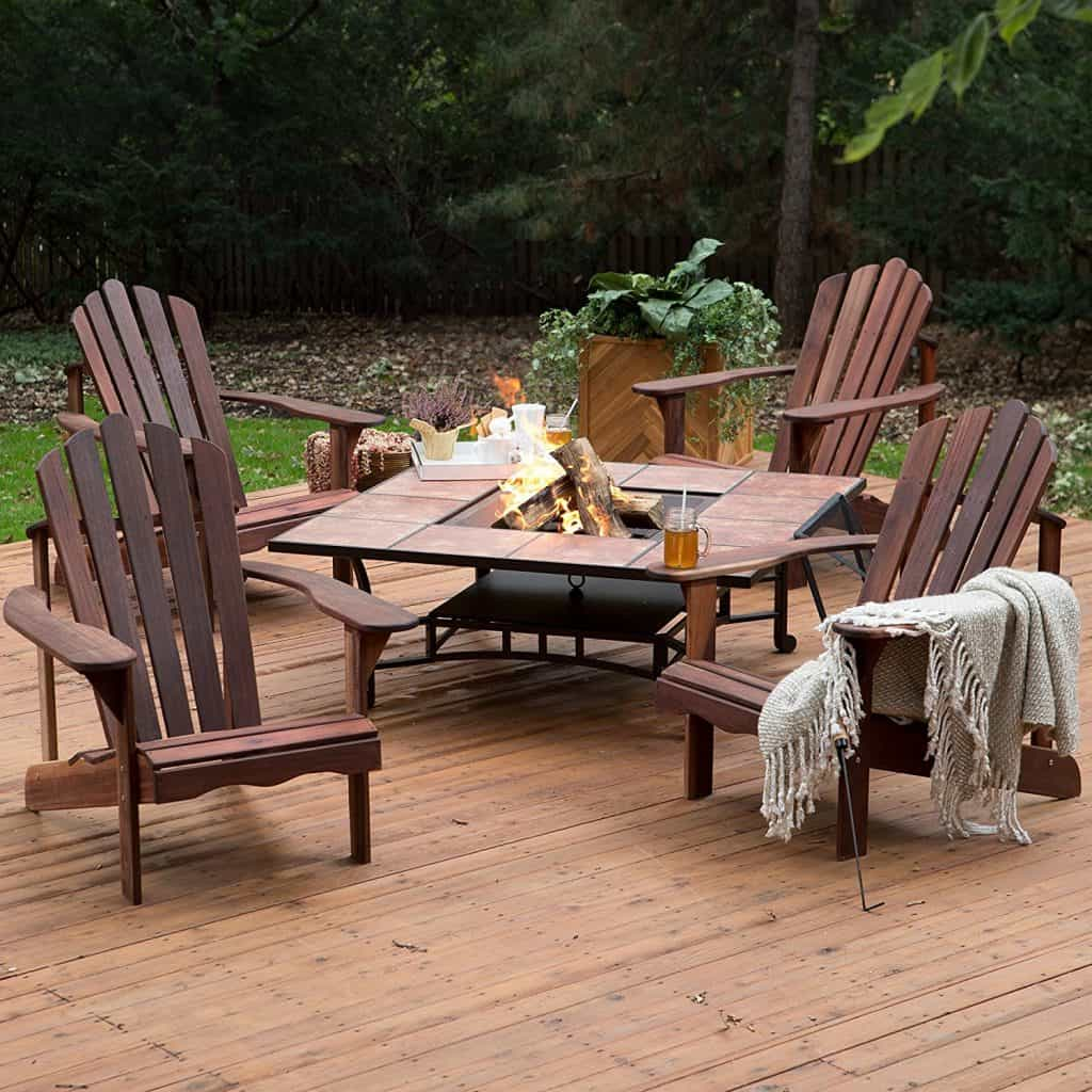 Outdoor Fire Pit Chair Furniture Set Richmond