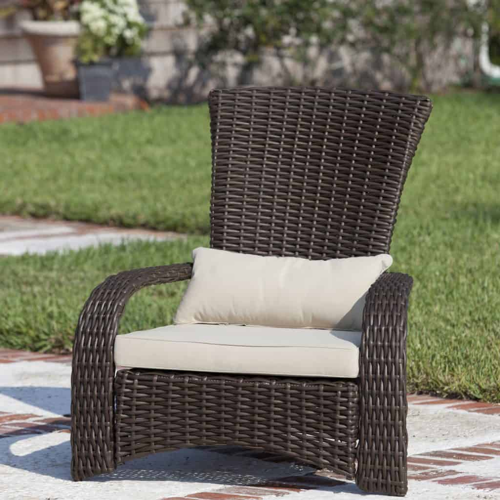 Patio-Sense Coconino All-Weather Wicker Adirondack