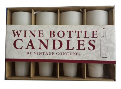 PlaceTile Designs Wine Bottle Candles, White