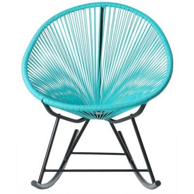 PoliVaz PV-MR-BL Mayan Hammock Acapulco Rocking Chair, Turquoise Blue