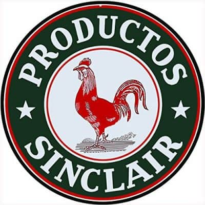 Productos Sinclair Motor Oil Sign