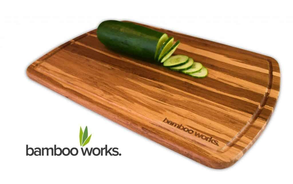 Professional Bamboo Wood Cutting Board and Cheese Board – Tiger Stripe