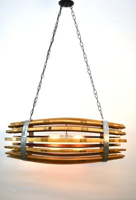 Quadratus - Wine Barrel Catch Chandelier