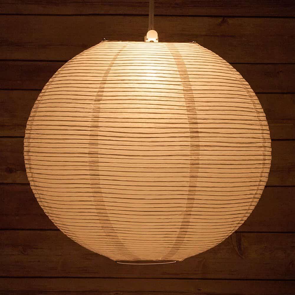 Quasimoon 14FLP-WH 14 White Fine Line Even Ribbing Paper Lantern, 14 Inch, White Fine Line Premium Even Ribbing
