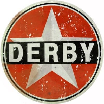 Reproduction Derby Motor Oil Sign