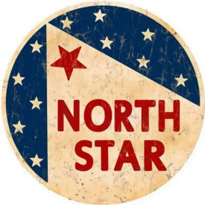 Reproduction North Star Motor Oil Sign