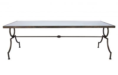 Rolland French Country Rustic Metal Coffee Table