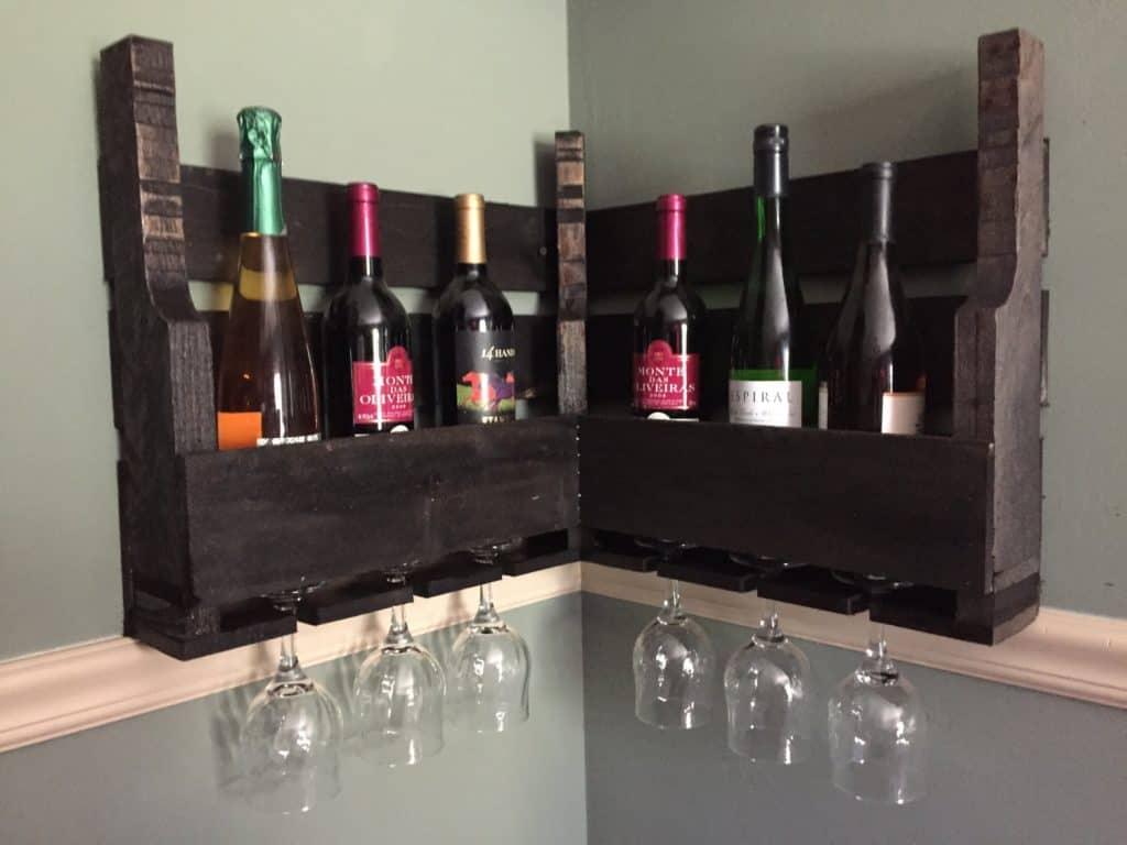 Rustic Corner Wine Rack