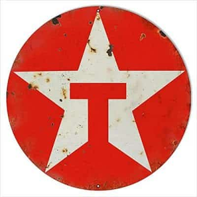 Rustic Red Texaco Motor Oil Sign