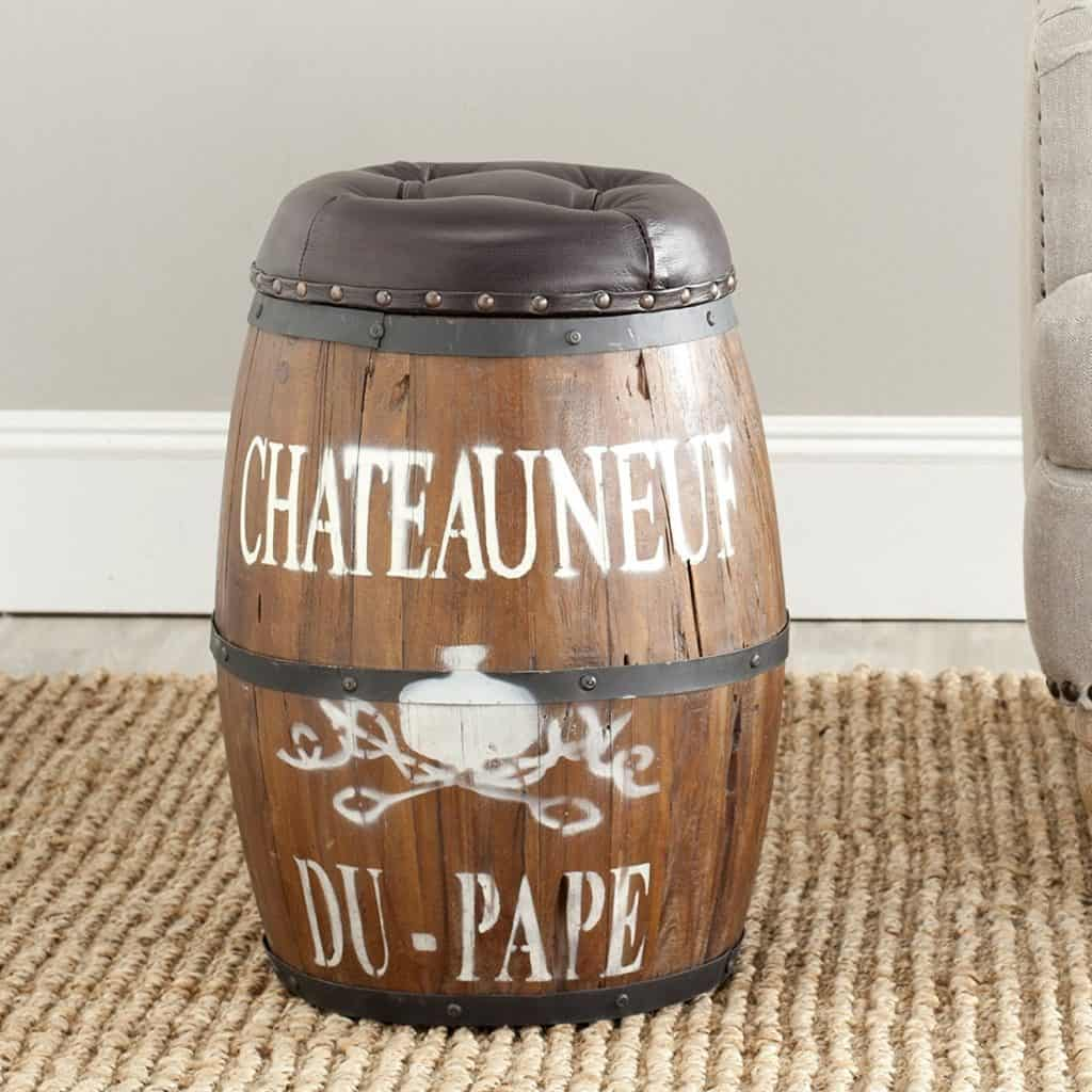 Safavieh Home Collection Bryce Brown Barrel Stool
