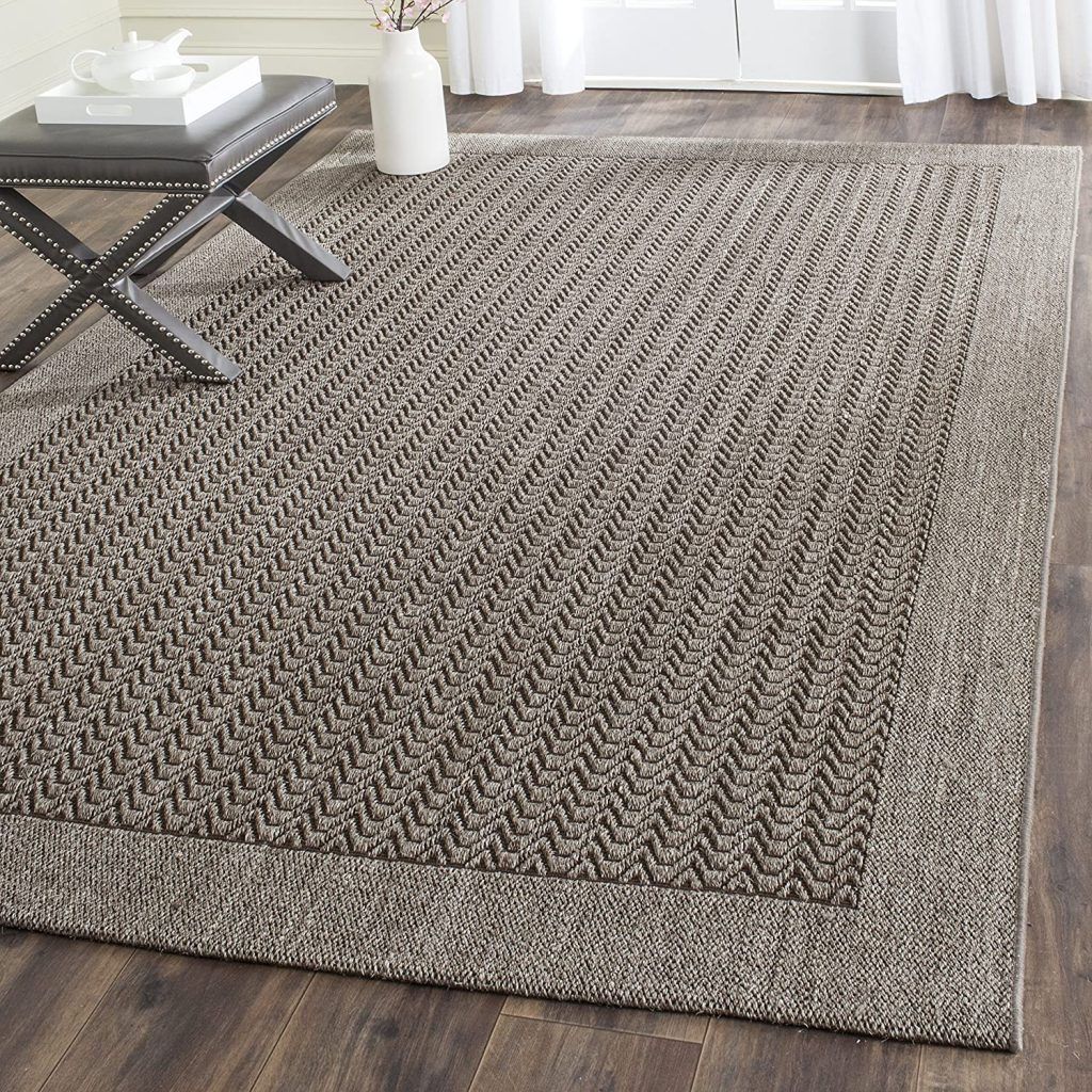 Safavieh Palm Beach Collection PAB321D Silver Sisal & Jute Area Rug