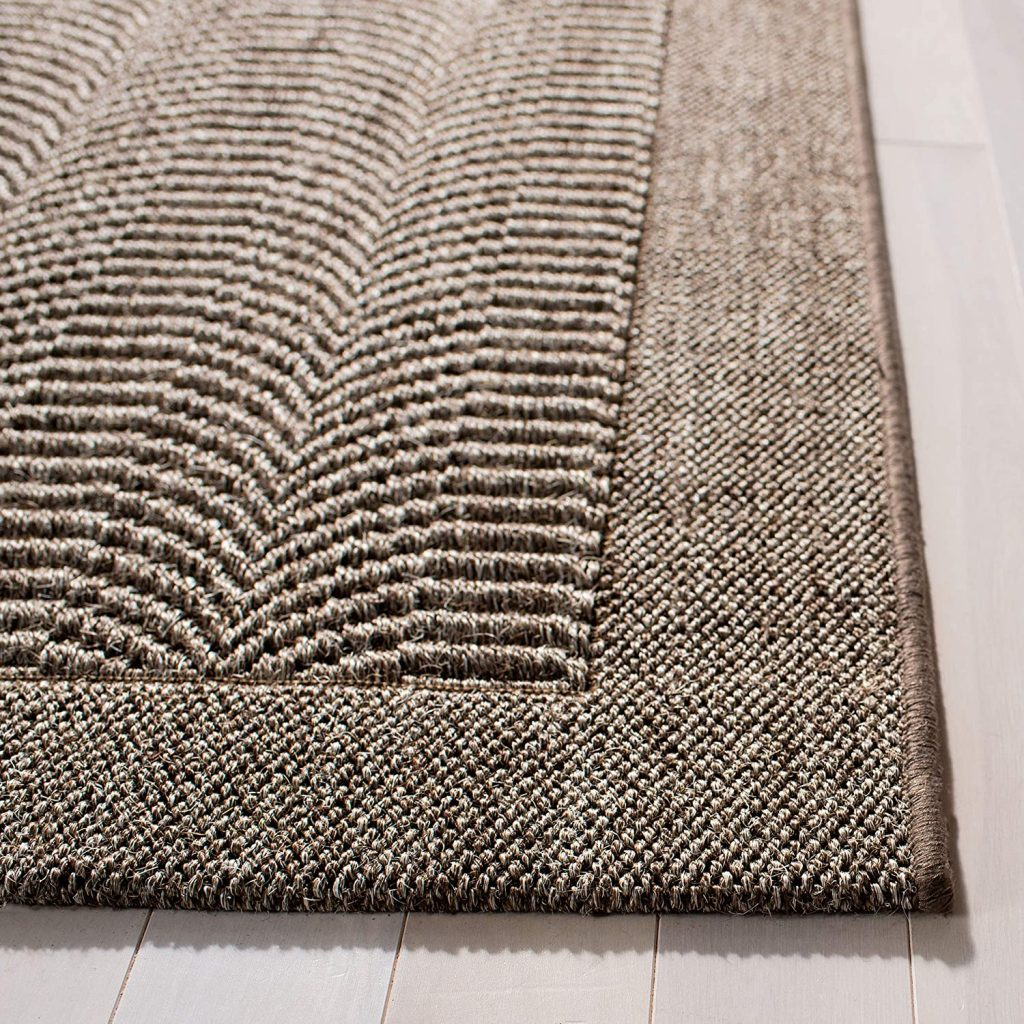 Safavieh Palm Beach Collection PAB322D Silver Sisal & Jute Area Rug