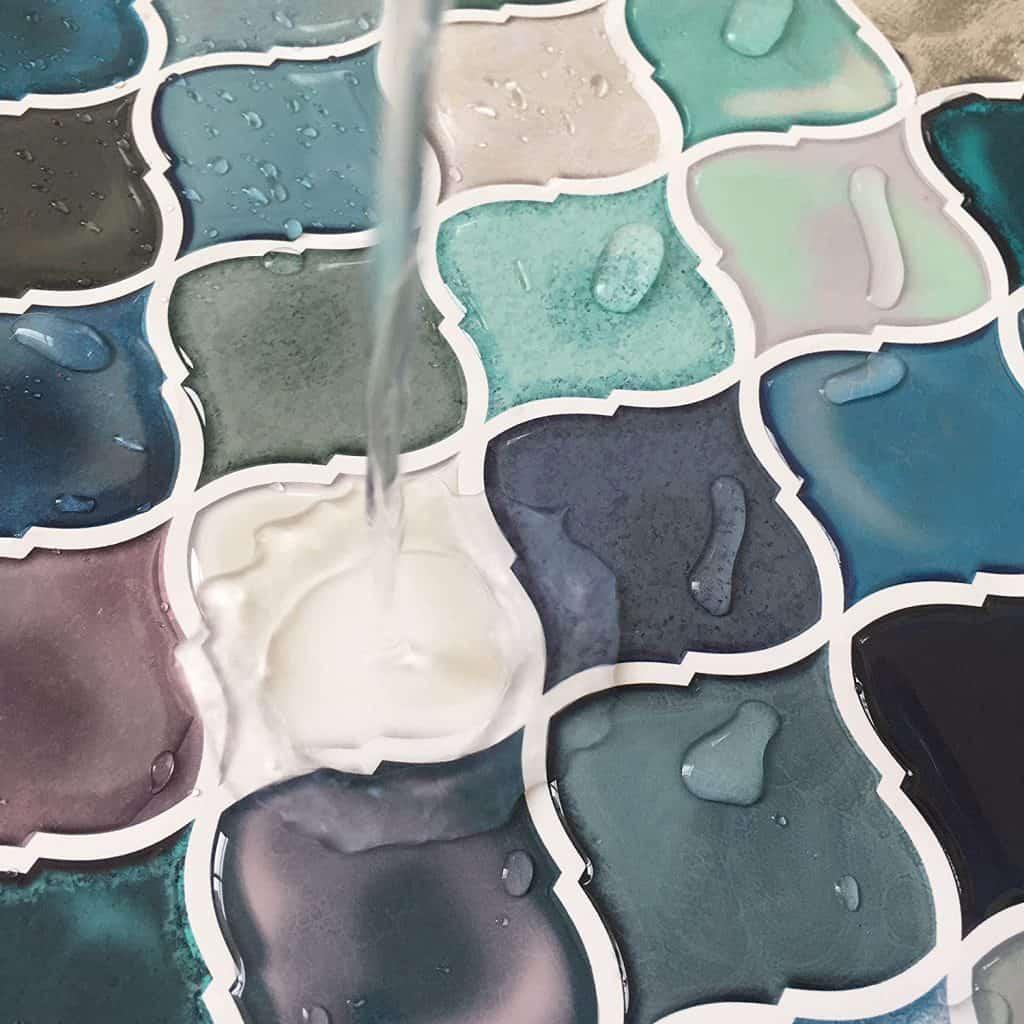 Self Adhesive Tiles,Peel and Stick Tile Backsplash for Kitchen Bathroom