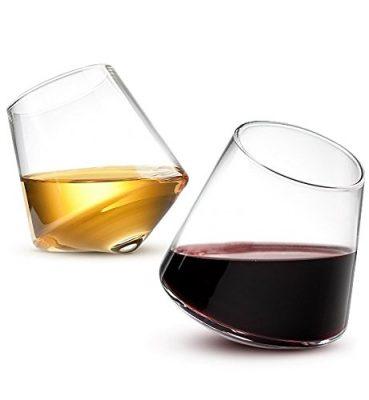 Sempli Cupa-Vino Clear Aerating Wine Glasses