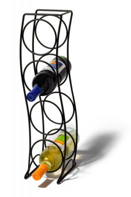 Spectrum Diversified 38310 Curve Wine Rack, 4 Bottle