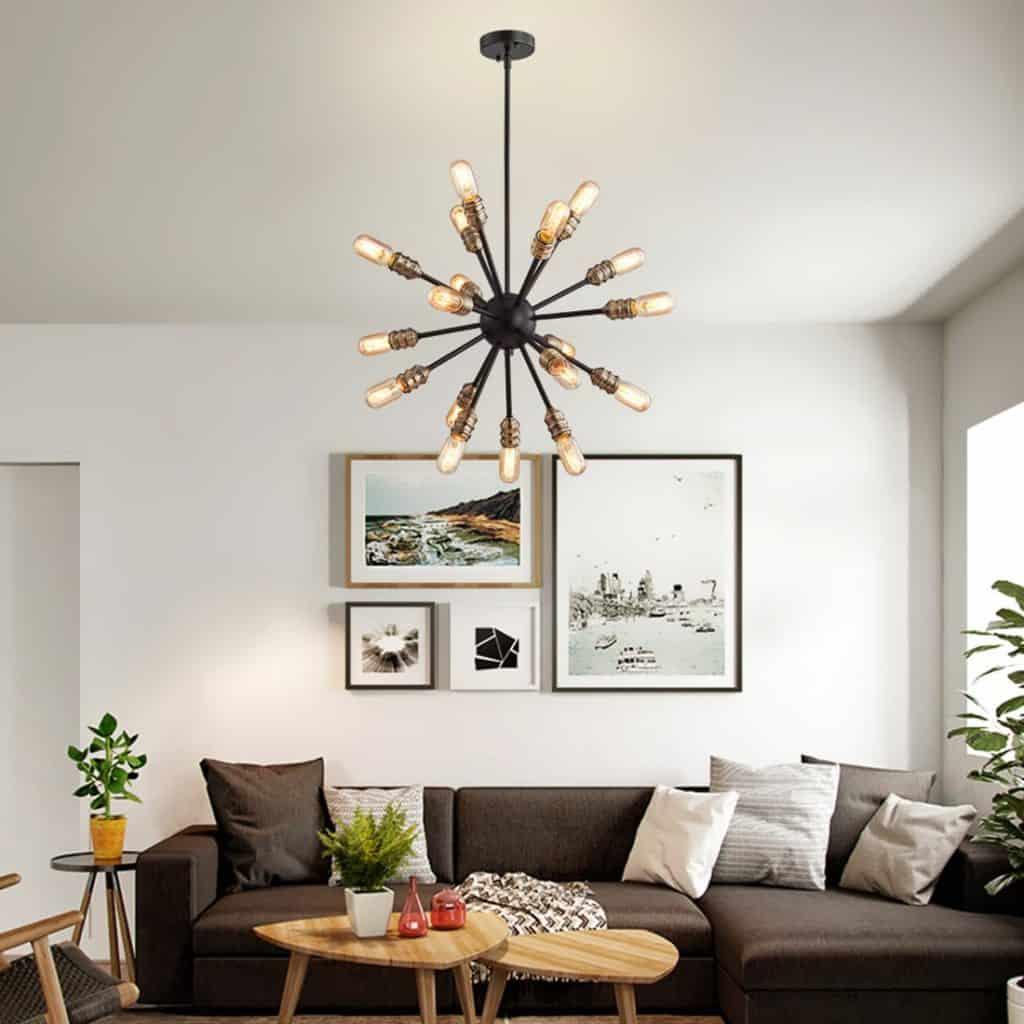 Sputnik Chandelier Mid Century Modern Pendant