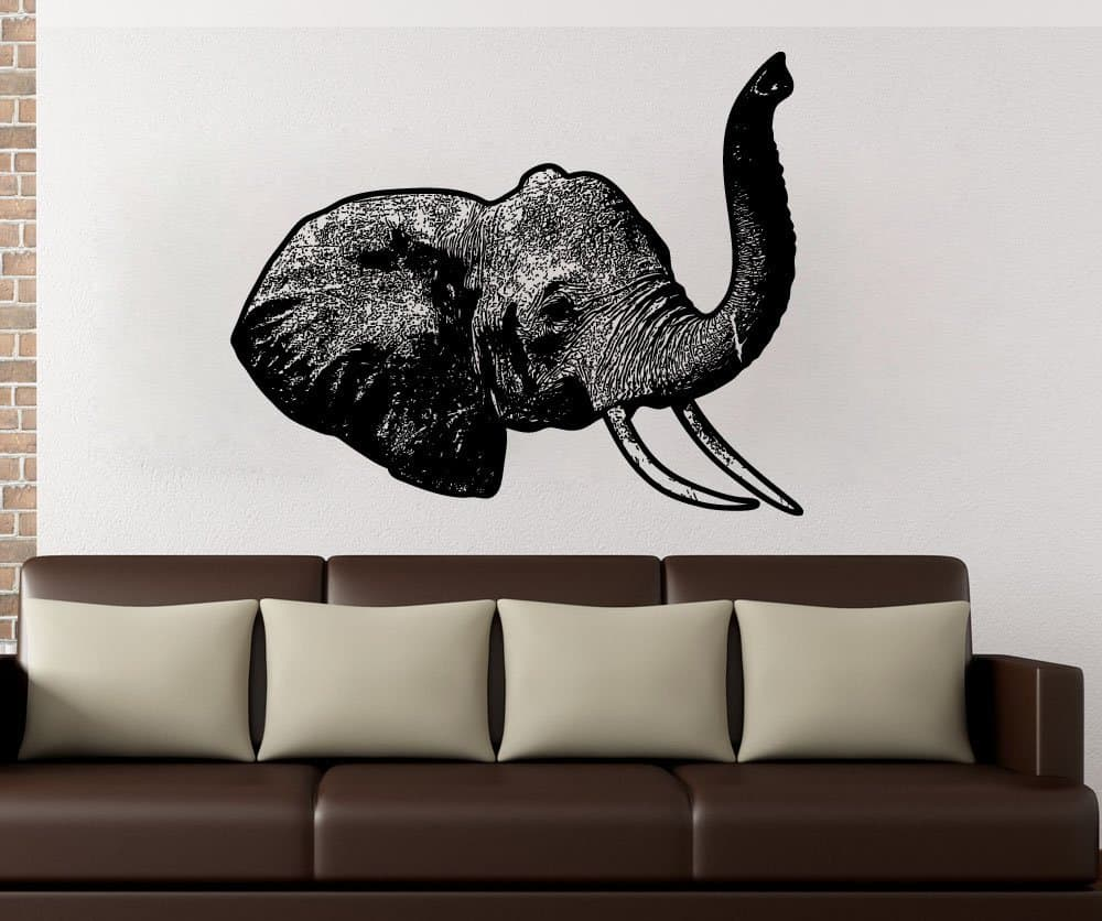 Stickerbrand Vinyl Wall Decal Sticker Elephant Head 5479s