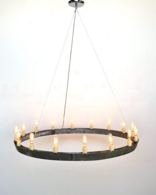 Striata Wine Barrel Ring Chandelier
