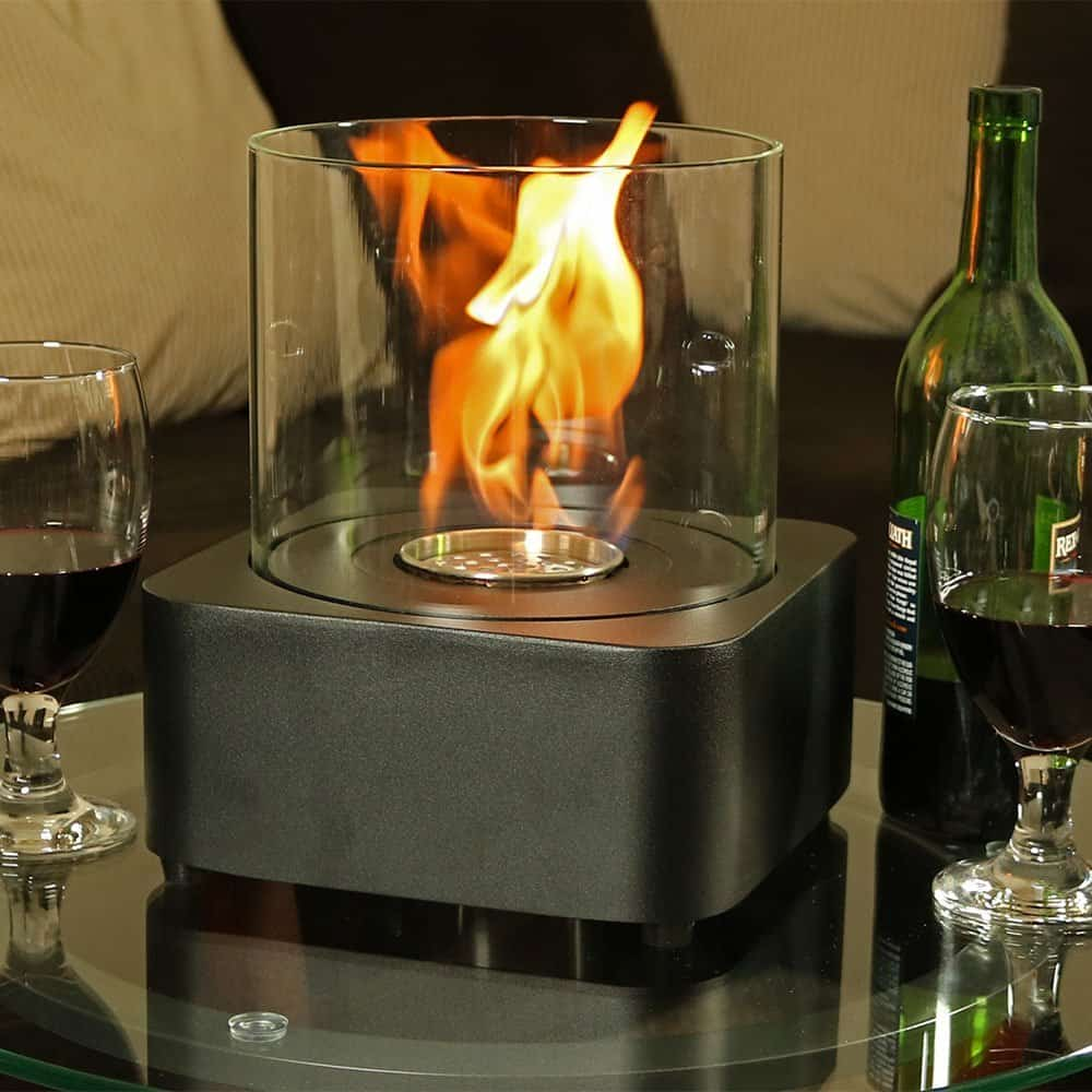 Sunnydaze Cilindro Ventless Bio Ethanol Tabletop Fireplace