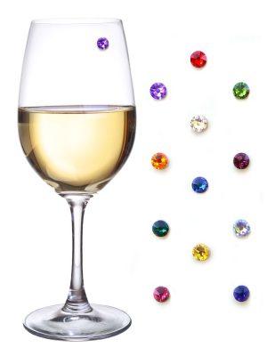 Swarovski Crystal Magnetic Wine Glass Charms